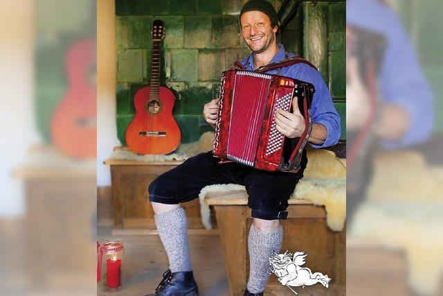 Martin Wangler alias Fidelius Waldvogel mit weihnachtlicher Stubete in Maulburg