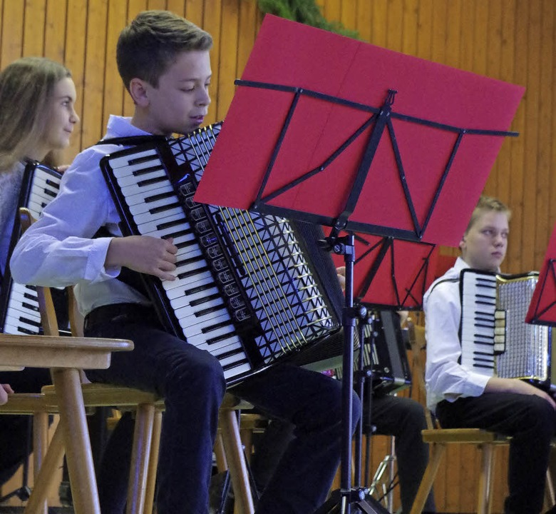 Lennart Kirner spielte ein eindrucksvolles Solo.   | Foto: Katharina Bächle
