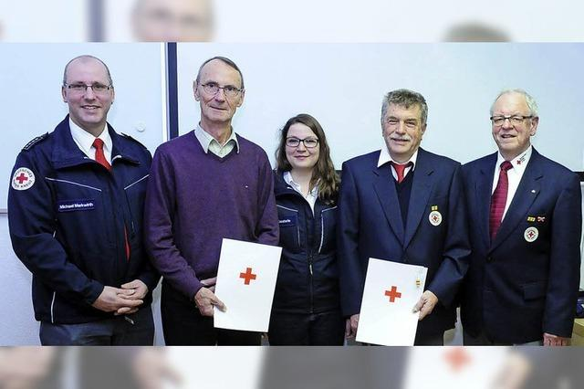 Ehrungen beim Roten Kreuz