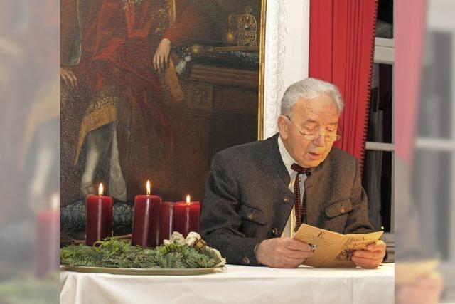 Pater Peter Leutenstorfer SJ liest in St. Blasien