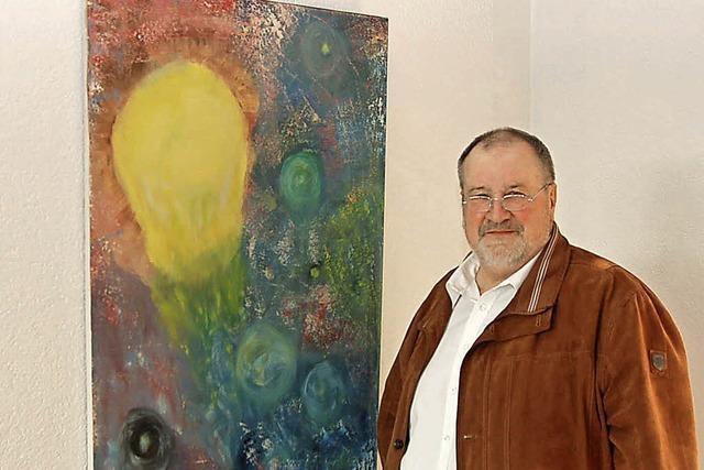 """Maler Wilhelm Matthis stellt """"Farbe auf Leinwand"""" im Kurhaus aus"""