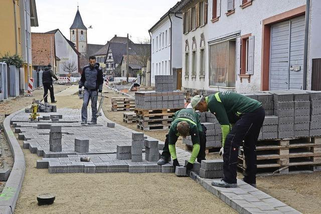 Sanierungsarbeiten in der Habsburgerstraße kommen gut voran