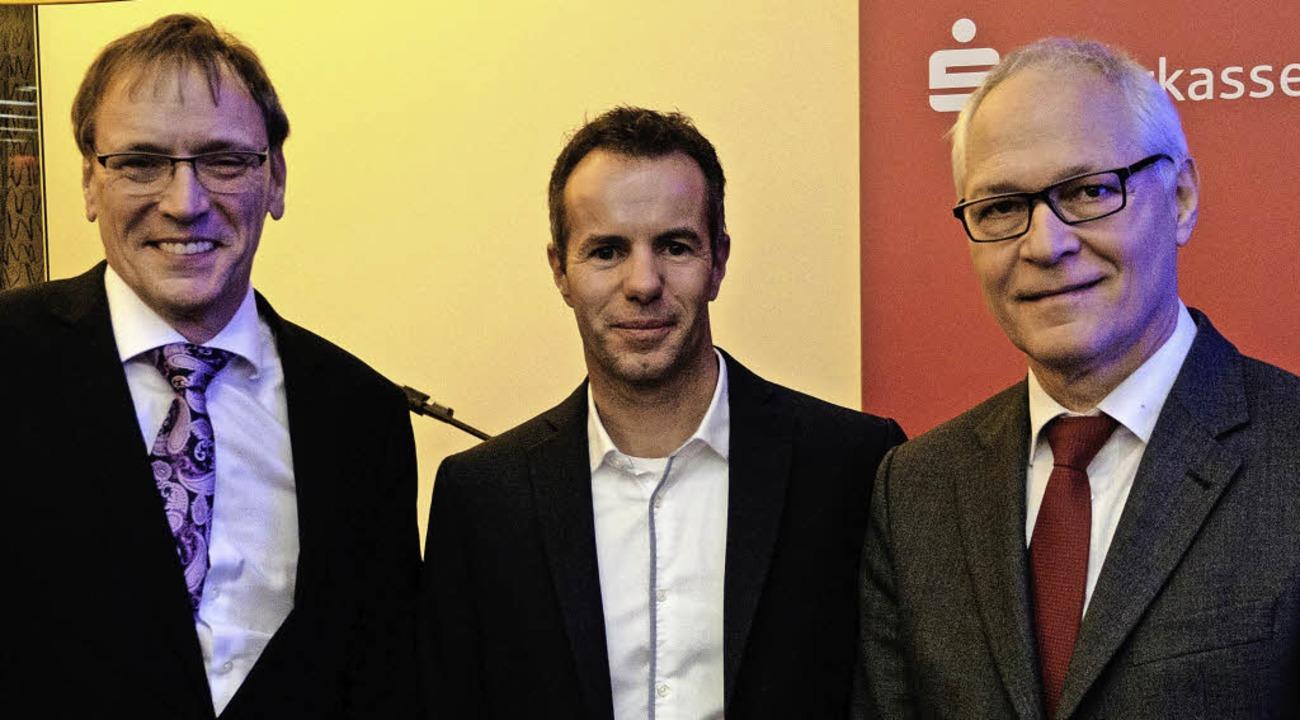 André Marker, Vorstandsvorsitzender Sp... von  Adensio aus Freiburg (von links)    Foto: Taschinski