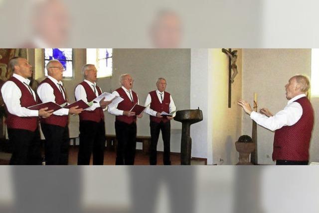 Männerstimmen erklingen in der Mauritiuskirche