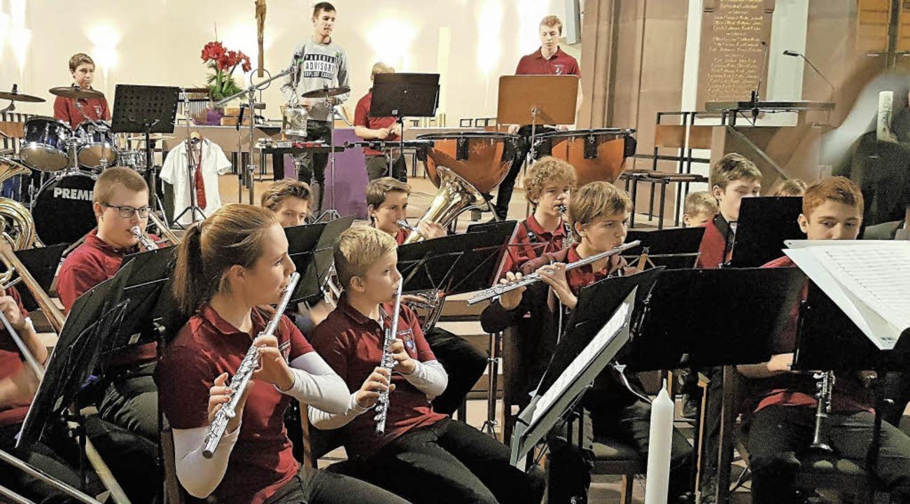 Der Nachwuchs der Stadtmusik in Aktion.  | Foto: Privat