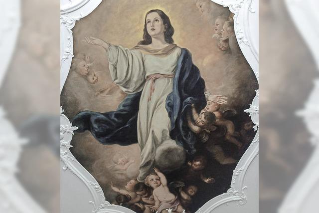 Maria an der Decke