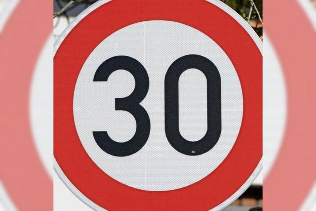 Tempo 30: keine Ausweitung nach Norden