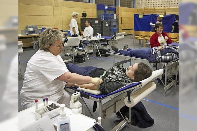 104 durften Blut spenden