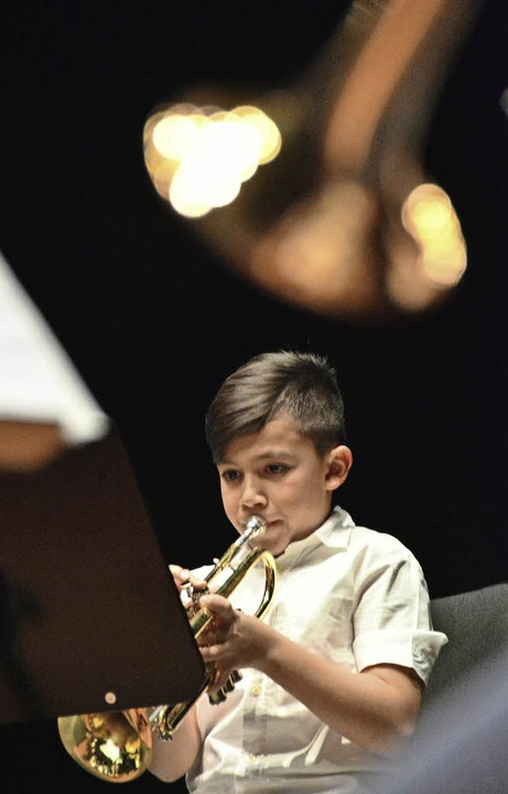 Trompeter der Albert-Schweitzer-Gemeinschaftsschule    Foto: Barbara Ruda