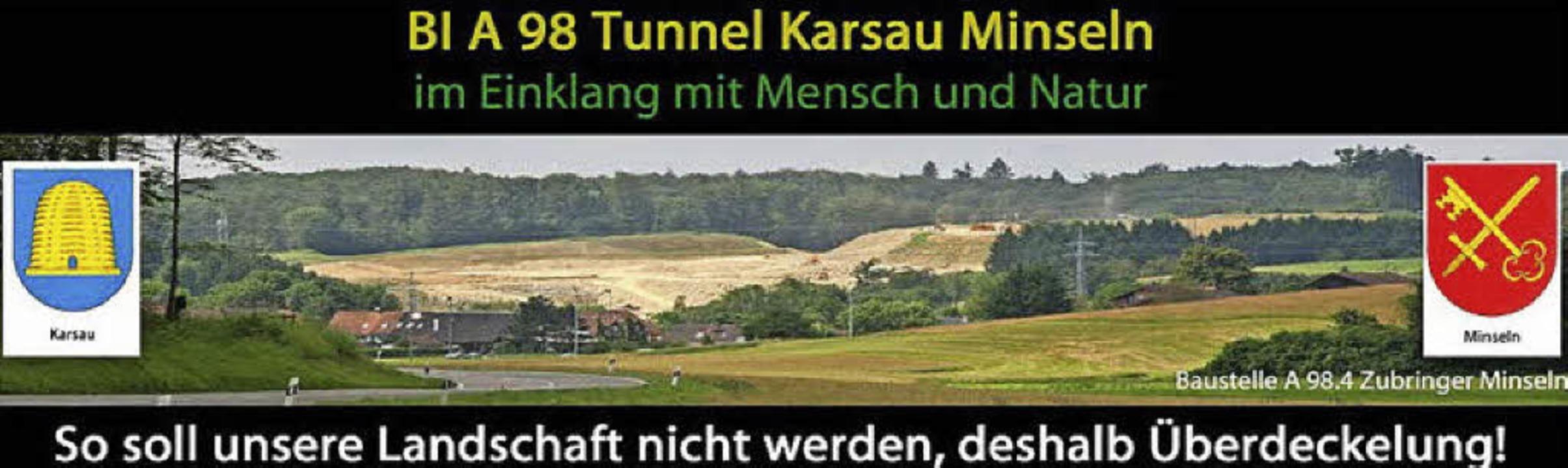 Die Bürgerinitiative bietet auf ihrer neuen Homepage Information und Austausch.   | Foto: Repro:BI A98 -Tunnel.