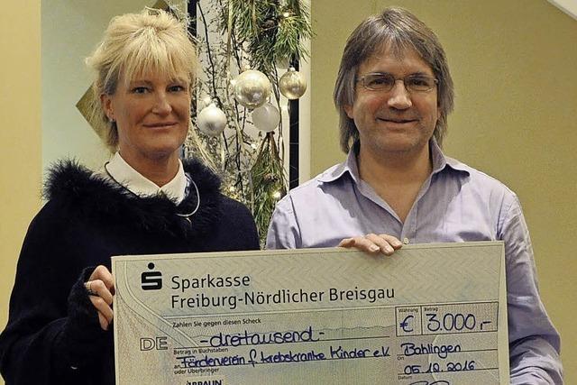 Firma Braunform spendet 3000 Euro an den Förderverein für krebskranke Kinder