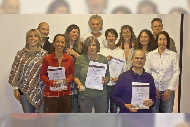Diplom für Yogalehrer