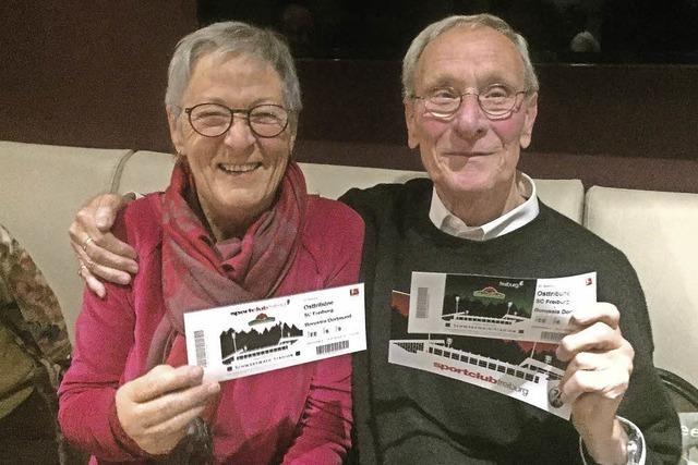 Tickets, die für Freude sorgten