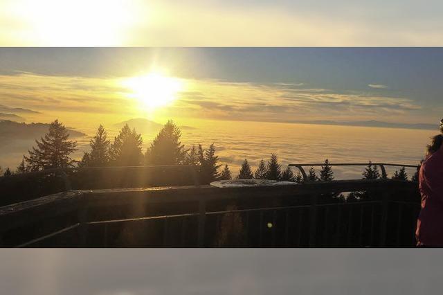 Der Blick übers Nebelmeer
