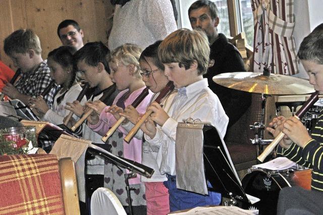 Mit Nikolaus und Flötentönen
