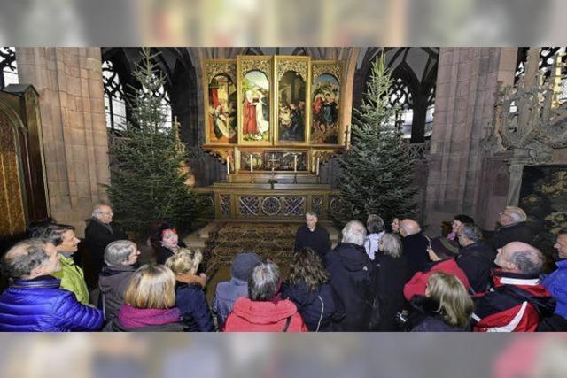 """""""BZ hautnah"""" brachte den Autor und Theologen Markus Aronica und BZ--Leser im Münster zusammen"""