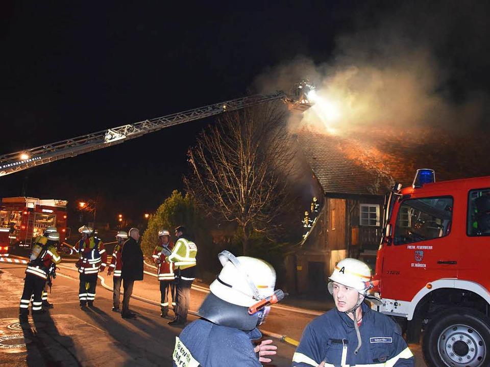 In St. Märgen wurde Großalarm ausgelöst.  | Foto: Martin Ganz
