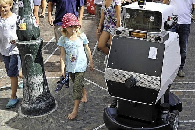 Zu Besuch bei Roboter Obelix, der gerne auch mal spazieren fährt