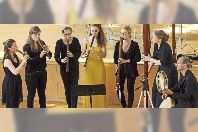 Das Flauto Consort Freiburg konzertiert in Freiburg und Kleinkems