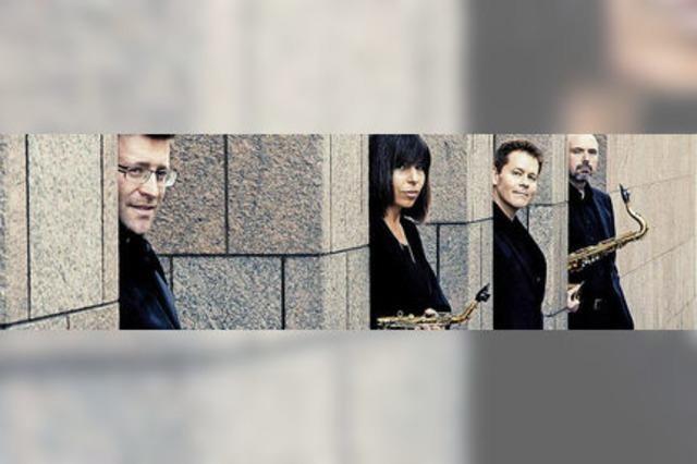 Das Raschèr Saxophone Quartet spielt im Freiburger Humboldtsaal