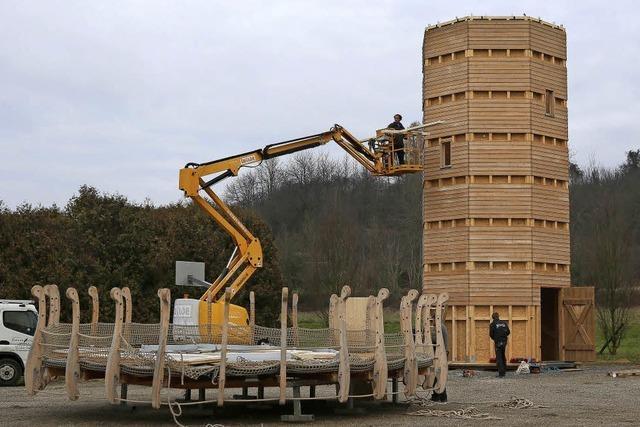 Der Heiligenzeller Leuchtturm ist abgebaut