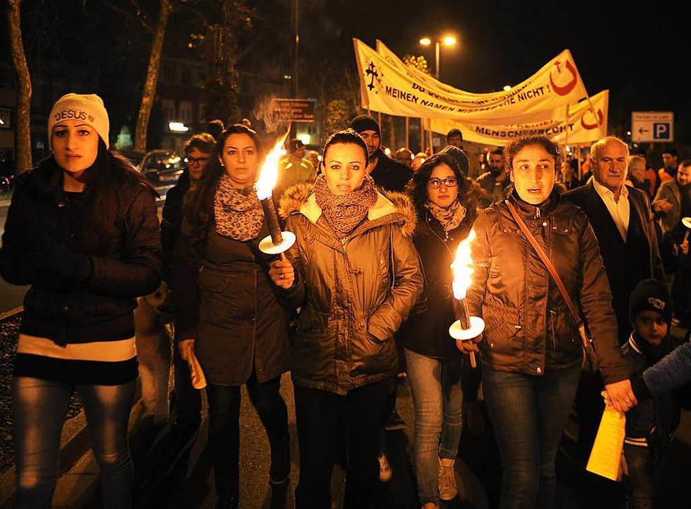 Lichtermarsch in Lahr: ein Foto aus dem vergangenen Jahr  | Foto: Pressebüro Schaller