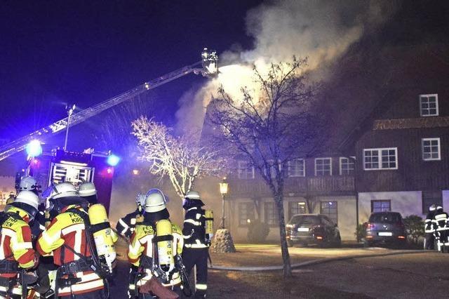 Feuer unterm Dach des Hotels