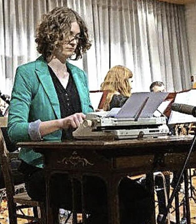 Die Schreibmaschine, musikalisch bearbeitet von Katharina Becher    Foto: Anne Freyer