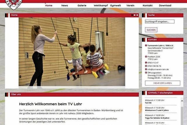 TV Lahr präsentiert sich mit neuer Seite im Netz