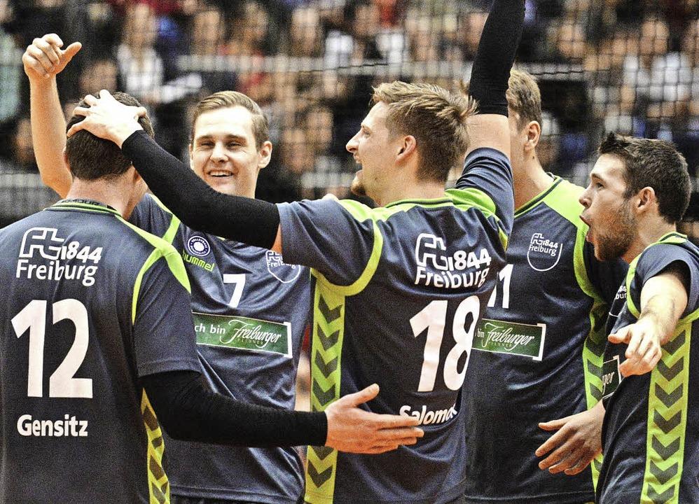 Jubeln wie hier beim Sieg über Meister...rundenspiel gegen den GSVE Delitzsch.   | Foto: Seeger
