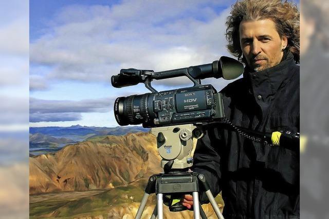 Stefan Erdmann zeigt Filmprojekt Island 63° 66° N, Tobias Hauser zweigt Bilder von Neuseeland