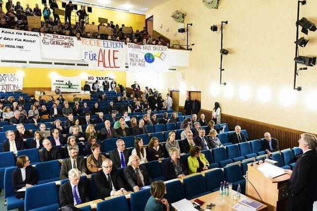 Studenten beenden Besetzung – und stören die Sitzung des Uni-Senats