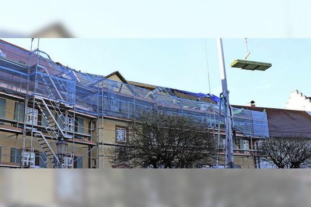 Sanierung des Alten Schlosses zieht sich wohl bis in den April