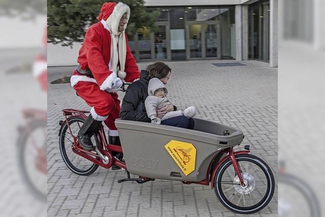 Der Weihnachtsmann kommt per Rad