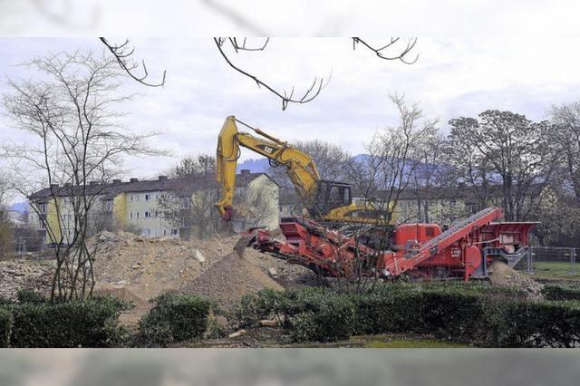 Auf dem Gelände der ECA-Siedlung haben die Bauarbeiten begonnen