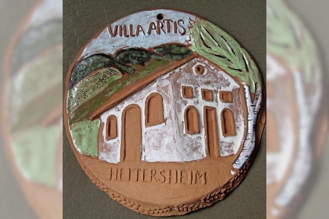 Villa artis als Römer-Keramik