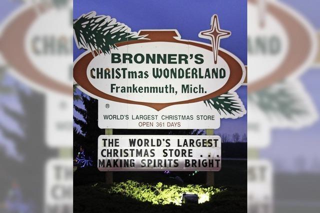 Der weltgrößte Weihnachts-Supermarkt ist in Frankenmuth, Michigan - und ganzjährig geöffnet