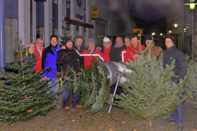 Der 20. Benefiz-Weihnachtsbaum-Verkauf des Lions-Club war ein voller Erfolg