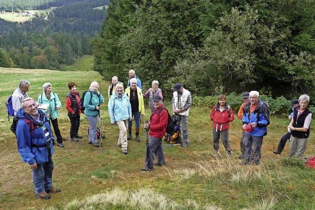 Die Senioren des Skiclubs auf Herbstwanderschaft