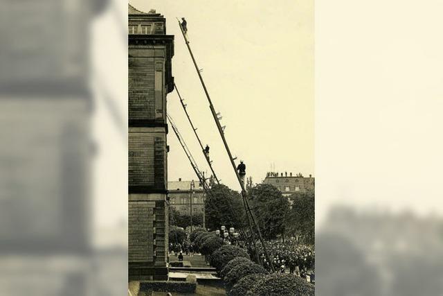 So wurde 1926 in der Freiburger Altstadt das Feuerwehrfest gefeiert