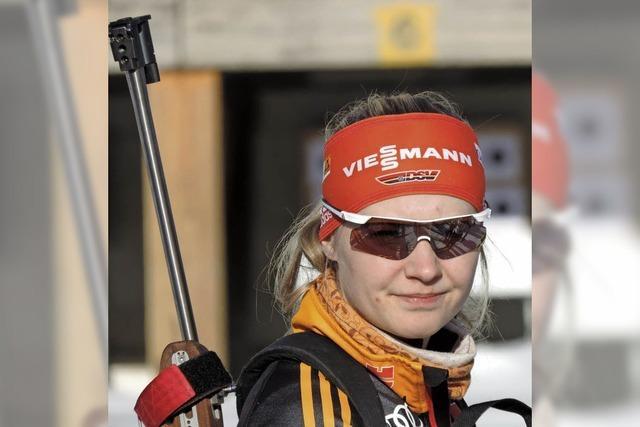Biathleten Annika Knoll und Benedikt Doll auf Heimaturlaub