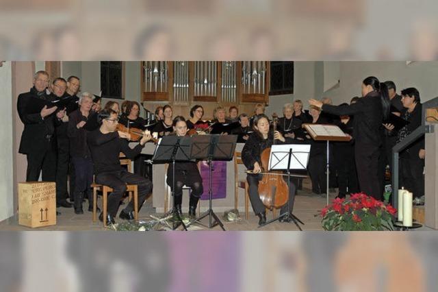 Gesang und feiner Streicherklang