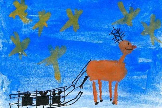 Weihnachtskarten-Malwettbewerb der BZ-Initiative Kinder helfen Kindern