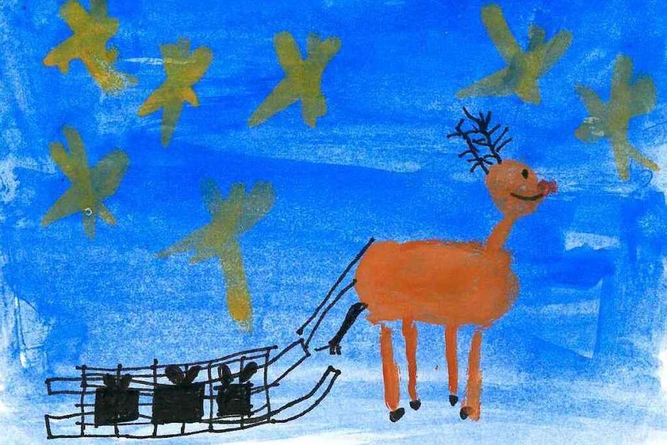 Die fünf schönsten Karten: Diese malte Mika Braith, 8 Jahre, aus Opfingen. (Foto: Privat)