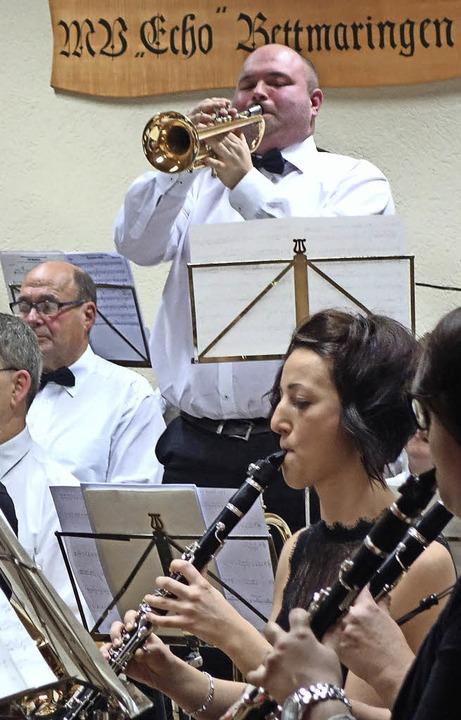 Sascha Boll an der Trompete sorgte für die heroischen Töne.    Foto: Andreas Mahler