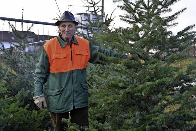 Seit 50 Jahren verkauft Albert Bechtel Weihnachtsbäume in Lörrach