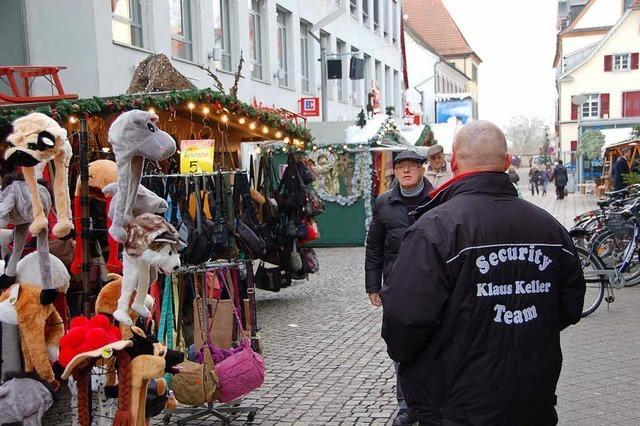 Weihnachtsmarkt: Zahl der Security-Kräfte deutlich erhöht