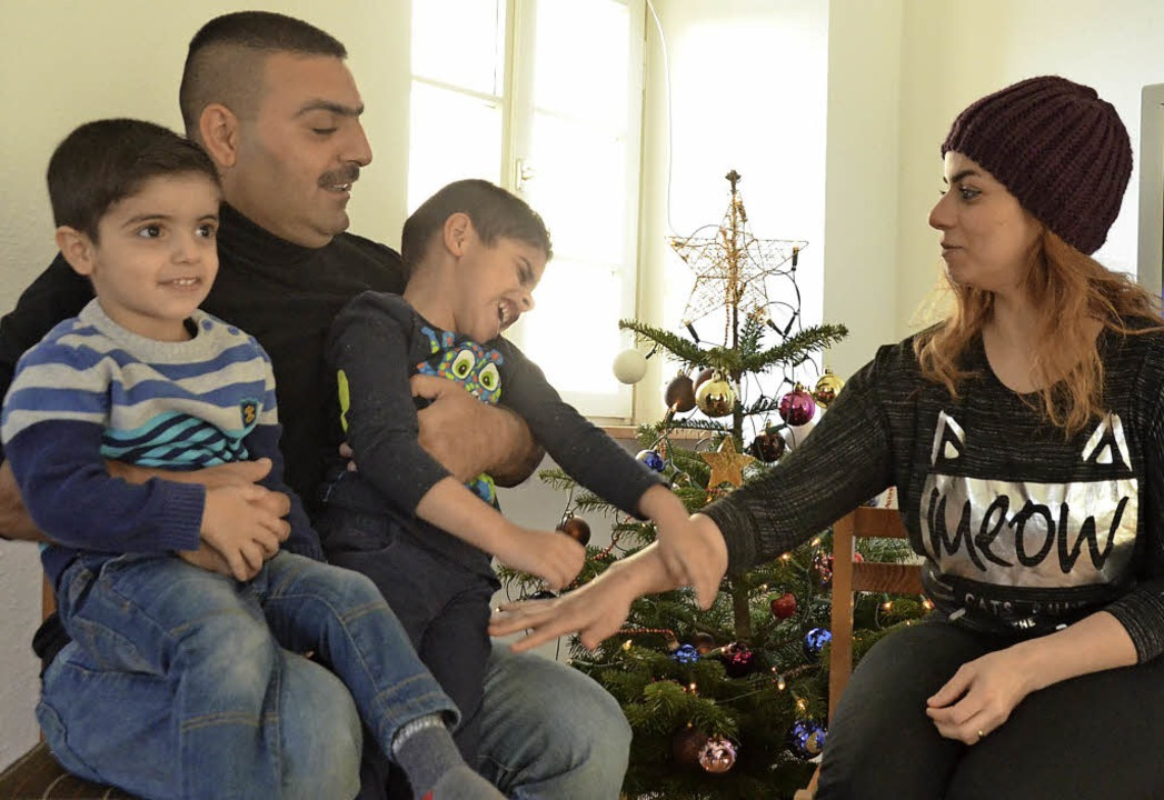 Die irakische Flüchtlingsfamilie Ehab ...ss Beuggen  sucht  ein neues Zuhause.   | Foto: Ingrid Böhm-Jacob