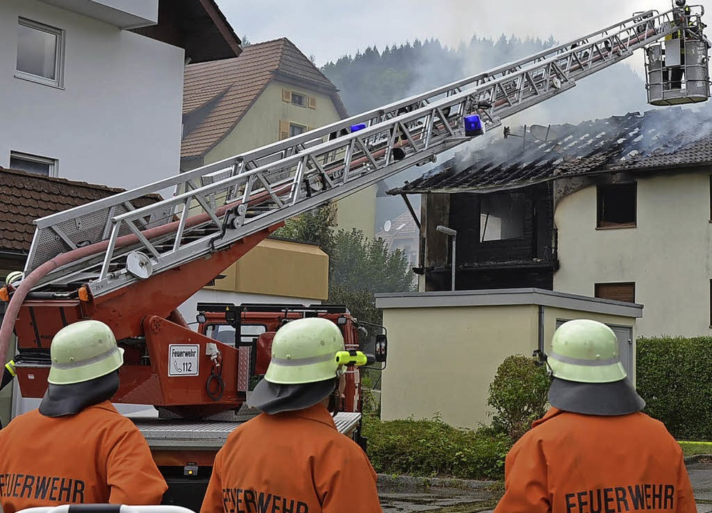 Eine neue Drehleiter (Archivfoto vom B... soll die Feuerwehr Schönau erhalten.     Foto: Jacob