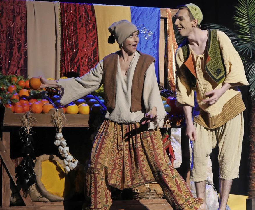 Szene aus dem Kindermusical Aladdin im Gloria-Theater    Foto: Marion Rank